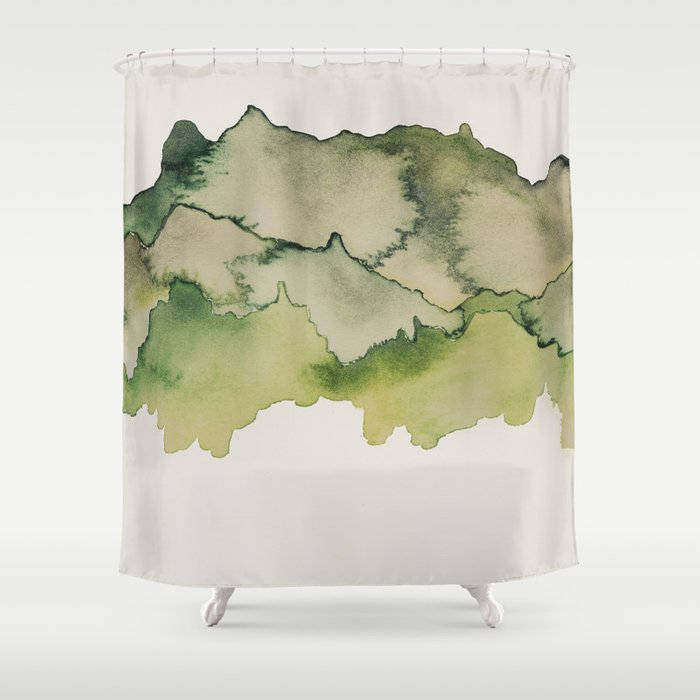 green mountains Shower Curtain