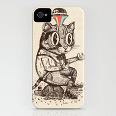 Strange Cat iPhone (4, 4s) Slim Case