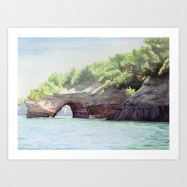 Picture Rocks Art Print