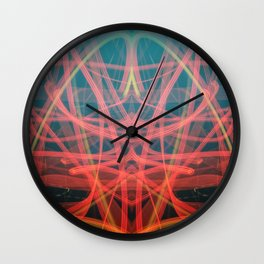 Devil Light Painting in Red and Black  Wall Clock