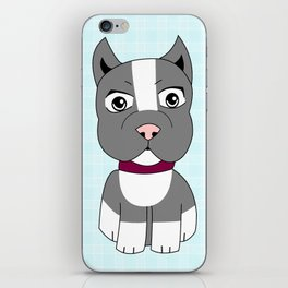 Cartoon Boston Terrier iPhone Skin