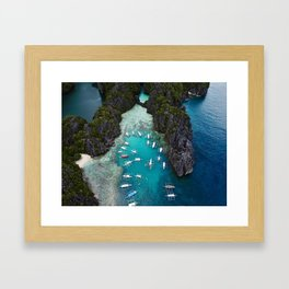 Island hopping in the Philippines Framed Art Print