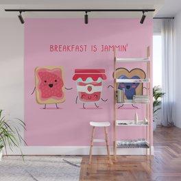 Breakfast Is Jammin' Wall Mural