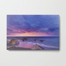 Ocean Beach Dusk Sunset Photography Metal Print