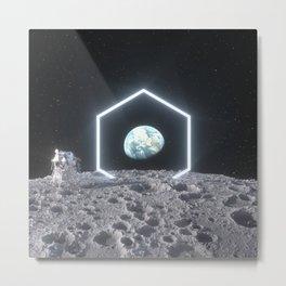 Hexa Moon Metal Print