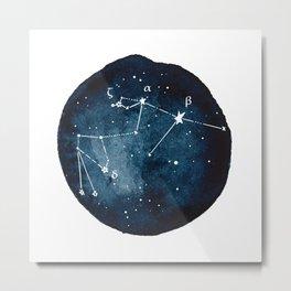 Aquarius Zodiac Constellation Metal Print