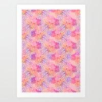 psychedelic succulent Art Print