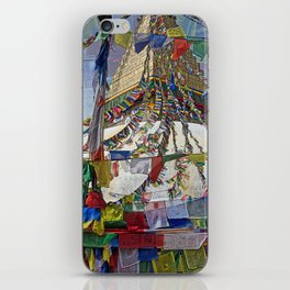 NEPALI PRAYERS CARRIED BY THE WIND FROM FLAGS iPhone Skin