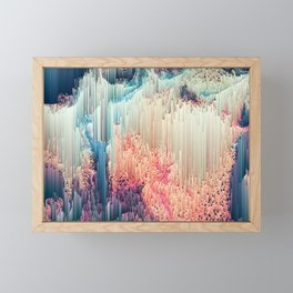 Fairyland - Abstract Glitchy Pixel Art Framed Mini Art Print