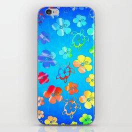 Tie Dye Honu And Hibiscus iPhone Skin