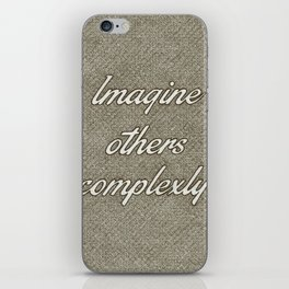 Imagine Others Complexly iPhone Skin