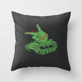Rubber Artillery Throw Pillow