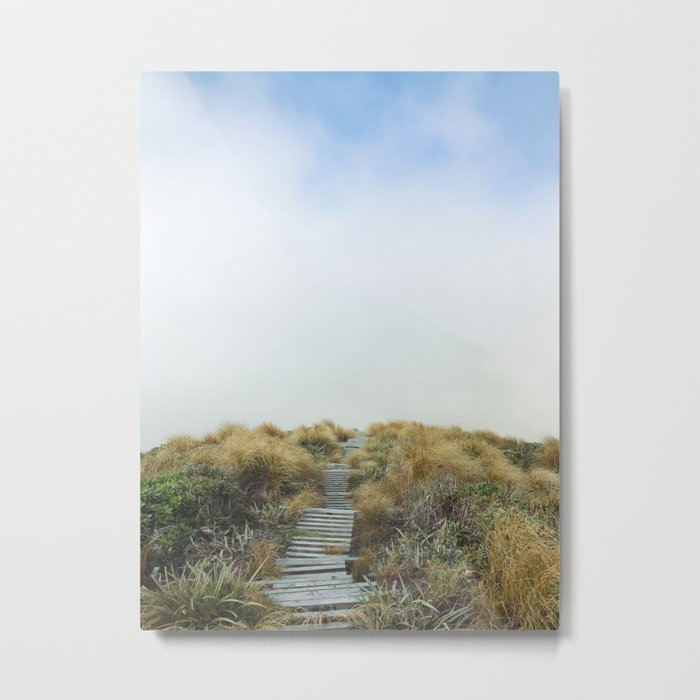 New Zealand Cloud Track Metal Print