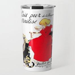 """Steinlen Poster """"Sterilized pure milk of the Vingeanne"""" ×1 Travel Mug"""