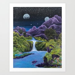 Mulberry Rock Art Print
