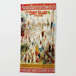 Vintage poster - Circus Beach Towel