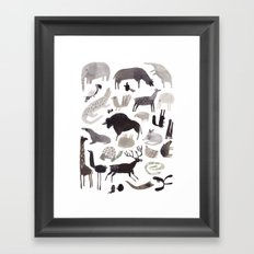 animaletti Framed Art Print