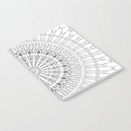 Gray White Mandala Notebook