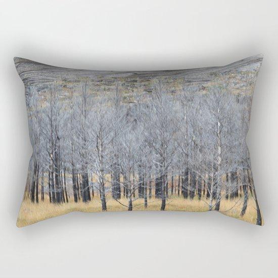 Wood on wood Rectangular Pillow