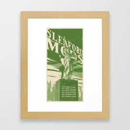 Sleaford Mods USA 2017 Tour Poster Framed Art Print