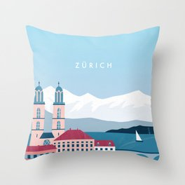 Zürich Throw Pillow