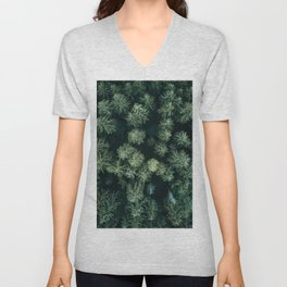 Forest from above - Landscape Photography Unisex V-Neck