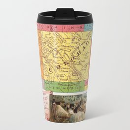Vintage Map of Colorado with Illustrations (1890) Travel Mug