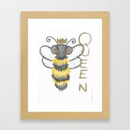 Cute Watercolour Queen Bee Framed Art Print