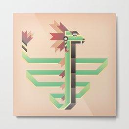 Quetzalcoatl Metal Print