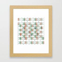 estrela_turqouise&red_no2 Framed Art Print