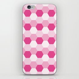 Pink Honeycomb iPhone Skin