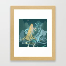Nymph of the river Framed Art Print