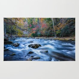 Fall in the Smokies - Autumn Colors at Laurel Creek in Smoky Mountains Rug