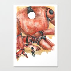 Moonbot #1: Red Canvas Print