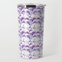 Floral Stripes Pattern Travel Mug