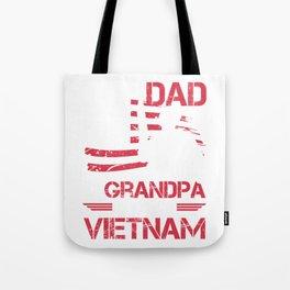 I Am A Dad A Grandpa And A Vietnam Veteran Gift for Grandpas Raglan Baseball design Tote Bag