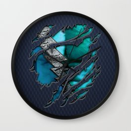 Quick Pietro Maximoff Silver Chest Ripped Torn Blue teal tee tshirt Wall Clock