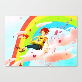 The wake up in the sky Canvas Print