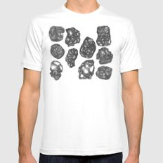 Cross Hatching Eggs SMALL White Mens Fitted Tee