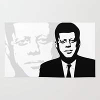 jfk Area & Throw Rugs featuring JFK by b & c