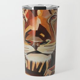 Lion Vector In Cubist Style Travel Mug