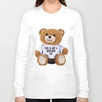 moschino Long Sleeve T-shirts featuring TEDDY BEAR PARFUM MOSCHINO by Claudio Velázquez