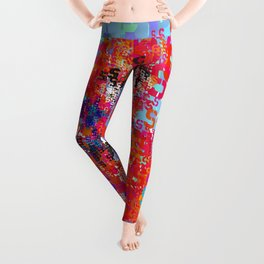 Spider Type Man - Abstract Pop Art Comic Leggings