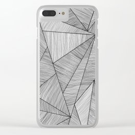 Triangel Lines Clear iPhone Case