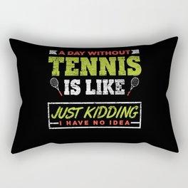 Tennis Sportsmen Rectangular Pillow
