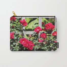 Fence Roses Carry-All Pouch