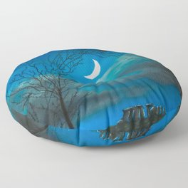 The Moon Gate Floor Pillow