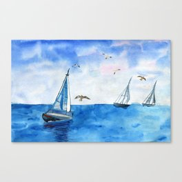 Boat trip on the yacht Canvas Print