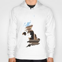england Hoodies featuring England by Isabel Moreno-Garcia