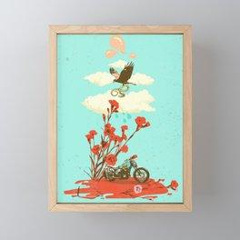 MOTORBIKE AND HAWK Framed Mini Art Print